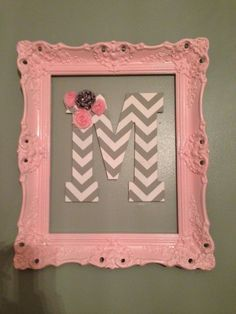 30 Beautiful Painted Vintage Picture Frames Framed Letter / Lots of ideas for framing