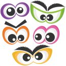 clip art freebies Halloween Spooky Eye Set SVG scrapbook cut file cute clipart files for silhouette cricut pazzles free svgs free svg cuts cute cut files Halloween Vinyl, Halloween Silhouettes, Halloween Eyes, Halloween Clipart, Holidays Halloween, Halloween Crafts, Little Monster Party, Spooky Eyes, Silhouette Clip Art