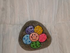Happy flower painted rock | Flickr - Photo Sharing!
