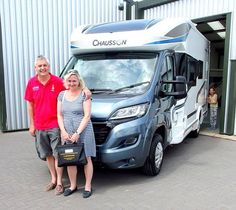 Kate & Mark + are pictured taking delivery of their new Chausson 610 Welcome Automatic Motorhome from TC Motorhomes in Herne Bay Kent. Styrofoam Insulation, Fiat, Motorhome, Welcome, The Twenties, It Is Finished, Delivery, Profile, Popular