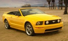 Yellow Mustang Convertible -I want one in a deep purple or lime green. Mustang Club, 2006 Ford Mustang, Ford Mustang Convertible, Ford Mustangs, My Dream Car, Dream Cars, Yellow Mustang, Yellow Car, Color Yellow