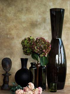 Höstens blommor. ANGENÄM, MEDVETEN och ståtliga FYLLIG vaser.