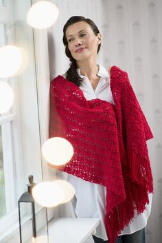 Virkattu hartiahuivi Novita Nalle | Novita knits