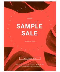 Shop Sample Sale