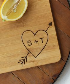 Cupid Personalized Large Cutting Board
