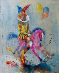 Original Fantasy Painting by Anna Ravliuc Paintings For Sale, Original Paintings, Original Art, Oil On Canvas, Saatchi Art, Modern Art, Childhood, Future, Prints