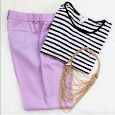 Jcrew Cafe Lilac Capri Dress Trousers Sz2 *Excellent used condition * Lilac in Color *J.crew Cafe style Work Trouser *Condition Score 9 of 10 *Size 2  * Please feel free to ask questions or make offers ?? ?? ?? J. Crew Pants Trousers