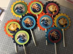 Zootopia Charaters Cupcake Toppers by PartysandMore on Etsy