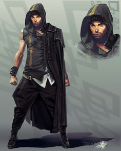 Explore the Character Concept collection - the favourite images chosen by CarlHolden on DeviantArt. Rogue Character, Man Character, Character Concept, Character Ideas, Concept Art, Fan Fiction, Arte Cyberpunk, Fantasy Male, Character Design Animation