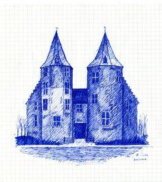 kasteel dussen  pentekening