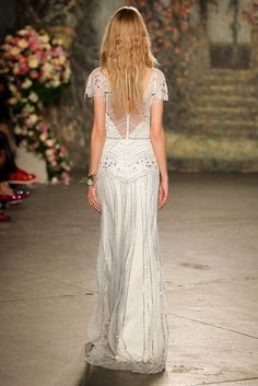 NEW YORK, NY - APRIL 17: A model wlaks the runway wearing Jenny Packham Bridal Spring 2016 at Industria Superstudio on April 17, 2015 in New York City. (Photo by Thomas Concordia/Getty Images)
