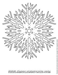 Big Snowflake Coloring Pages Printable And Book To Print For Free Find More Online Kids Adults Of