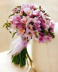 16 Stunning Summer Wedding Flowers---purple freesia wedding bouquet with blush tulle ribbon, organic outdoor garden weddings, beach weddings, country weddings, Freesia Wedding Bouquet, Freesia Flowers, Bride Bouquets, Bridesmaid Bouquet, Pink Bouquet, Wedding Flower Arrangements, Floral Arrangements, Types Of Tulips, Color Durazno