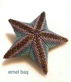 Peyote star pendant by Emel Bas from Turkey