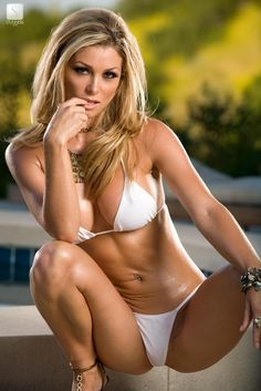 Heather Vandeven,  white bikini, swimwear, swimsuit. More sexy models at http://sexy-calendars.net