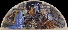 Sandro Botticelli - Adorazione del Bambino -  affresco staccato - 1476-1478 circa - Basilica di Santa Maria Novella.