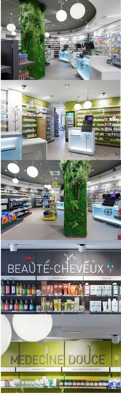 Agencement d'une Pharmacie - #designdespace #signaletique #pharmacie