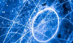 The quantum landscape: view of the elusive subatomic neutrino tracks showing electrons and muons caught in a nanosecond Photograph: Dan Mcco...