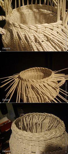 кашпо или ваза | Страна Мастеров | Плетение из газет | Постила