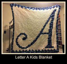 Letter A Kids Afghan C2C Graph Crochet Pattern by CrochetCouch