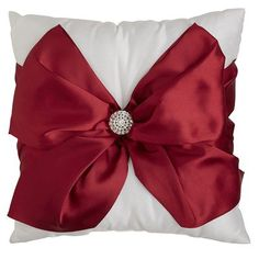 Red Bow Pillow from Pier 1 Import. They are gorgeous.