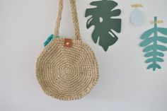 in elke steek Meet even goed na Diy Crochet, Crochet Bags, Jute, Straw Bag, Make It Yourself, Happy, Pattern, How To Make, Handmade