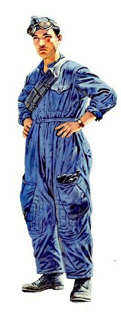 Italy, North Africa WWII: Regio Esercito, tank crew, service dress - pin by Paolo Marzioli
