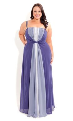 Plus Size Drape Goddess Dress - City Chic - City Chic