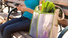 Mercado multi-compartment shopping bag by @Jen Quirk-Moss