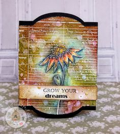 Lollyrot Scrapbooking-Gorgeous card using white embossing powder and Inktense pencils Atc Cards, Card Tags, Paper Cards, Watercolor Cards, Watercolor Pencils, Watercolors, Card Creator, Cardmaking And Papercraft, Scrapbook Cards