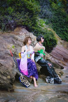 Yuna and Lulu from Final Fantasy X.