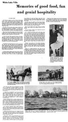News article about White Lake Villa
