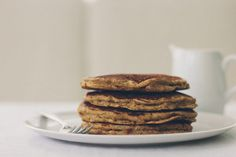 whole wheat pancakes, with or without pears