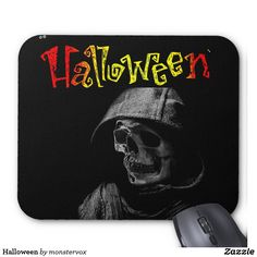 Halloween Mouse Pad #Halloween #Holiday #Art #Skeleton #MousePad