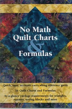 Keep all the basic quilting information you need right at your fingertips with convenient charts for standard bed quilt sizes, reducing and enlarging patchwork blocks, even how much fabric is needed for basic quilt blocks and so much more! Quilting Tools, Quilting Tutorials, Hand Quilting, Quilting Projects, Quilting Designs, Quilting Ideas, Sewing Projects, Beginner Quilting, Quilting 101