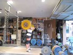 With the jerk, the bar is driven up BY THE LEGS ONLY! The arms should play no part in pushing the bar up.