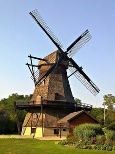 Fabyan Windmill    It is an authentic, working Dutch windmill dating from the 1850s located in Geneva, Illinois.