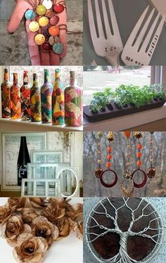 Inspirational upcycling ideas! Turn unwanted items into gorgeous finds! #decoupage #upcycle #bottle #decoupage #art #wine #trees #craft #diy    Pinned with etsytreasurypin.com