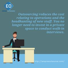 Outsourcing reduces the cost relating to operations and the headhunting of new staff. You no longer need to invest in a private space to conduct walk-in interviews. Copywriting, Attraction, Digital Marketing, Investing, Wordpress, Interview, Positivity, Social Media, Space