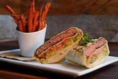 A tortilla burger served at the Eureka restaurant in Concord, Calif., on Thursday, Nov. 19, 2015. (Jose Carlos Fajardo/Bay Area News Group)