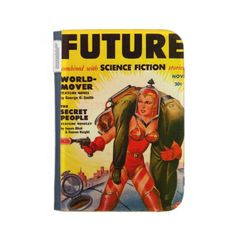 Vintage Pulp Paperback Sci-Fi Girl  Hero Cover Kindle 3G Cases