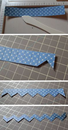 Easy way to cut a chevron strip - by Nicole