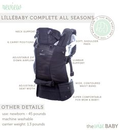 @líllébaby COMPLETE All Seasons baby carrier review & giveaway! We love the new zip down piece for air flow!