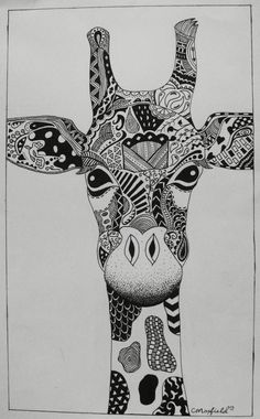 Zentangle Giraffe Spring 2014
