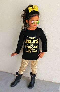 "LONG SLEEVE ""The Sass is Strong with This One"" Shirt #boutique-outfits #new #newborn-sets #perfect-sets"
