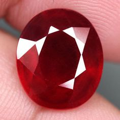 8.56CT.GORGEOUS! OVAL FACET TOP BLOOD RED NATURAL RUBY MADAGASCAR NR! #GEMNATURAL