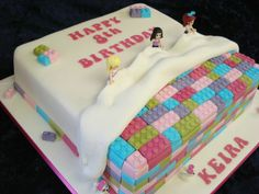 Lego Friends Girls Birthday Party Cake - Love it! You see boy style ones everywhere but this is so different