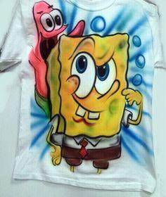 Airbrush spongebob square pants patrick t by Airbrushmonsters, $24.95