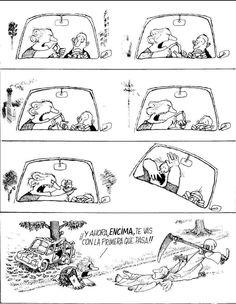 Quino - Déjenme inventar (Let Me Invent) Cartoon Jokes, Comics Story, Fun Comics, H Comic, Beste Comics, Comic Tutorial, Funny French, Comic Boards, Humor Grafico