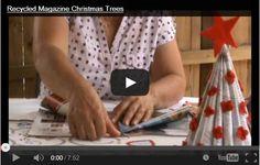 Addobbi natalizi fatti a mano con riviste